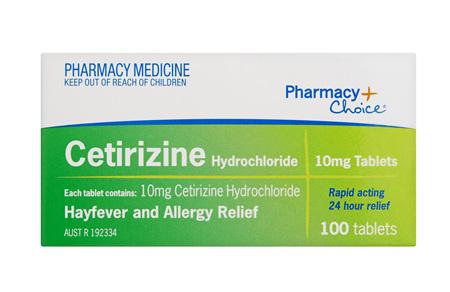 Pharmacy Choice -  Cetirizine Hayfever & Allergy Relief 100 Tablets