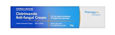 Pharmacy Choice -  Clotrimazole Antifungal Cream 50g