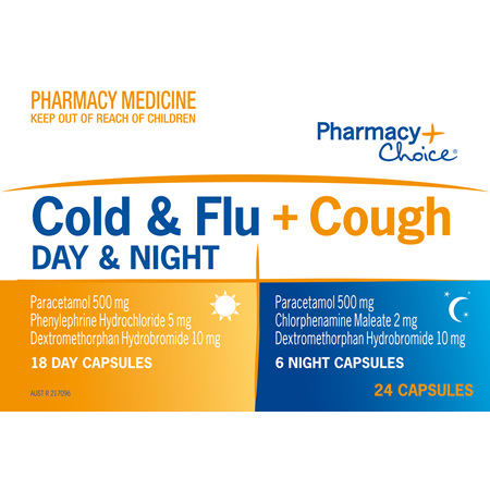 Pharmacy Choice -  Cold & Flu + Cough Day & Night PE 24 Capsules