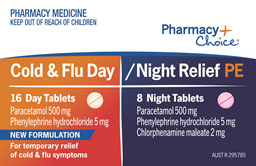 Pharmacy Choice -  Cold & Flu Day & Night PE 24 Tablets