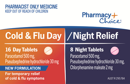 Pharmacy Choice -  Cold & Flu Day/Night 24 Tablets