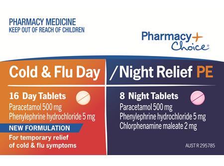 Pharmacy Choice -  Cold Flu & Sinus PE 24 Tablets