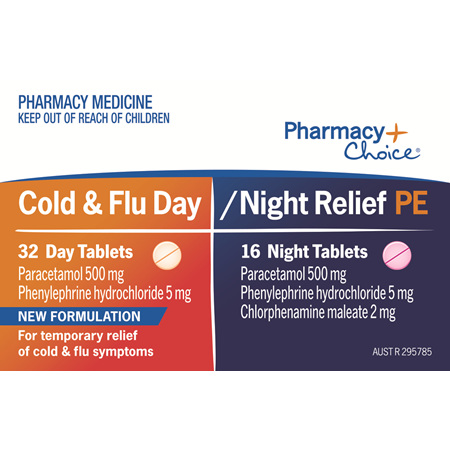 Pharmacy Choice -  Cold Flu & Sinus PE 48 Tablets