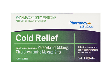 Pharmacy Choice -  Cold Relief 24 Tablets
