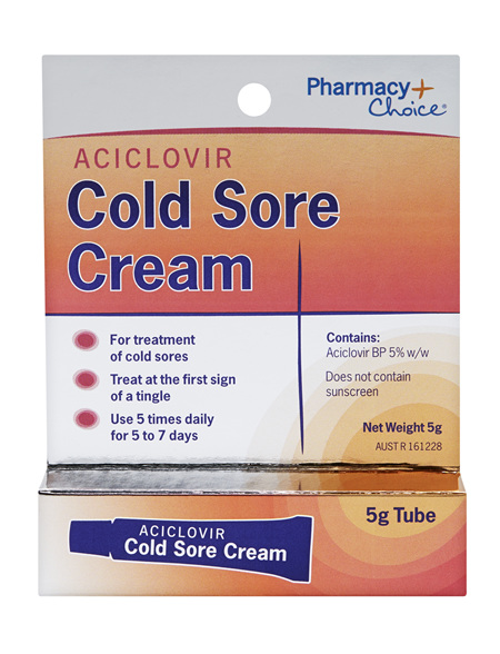 Pharmacy Choice -  Cold Sore Cream 5g Tube