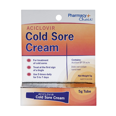 Pharmacy Choice -  Cold Sore Cream 5g Tube