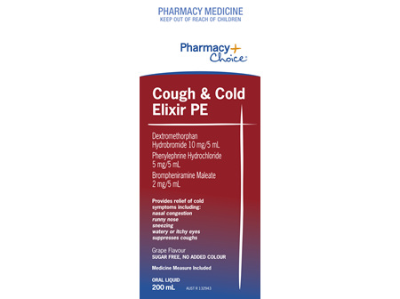 Pharmacy Choice -  Cough Cold Elixir PE 200mL
