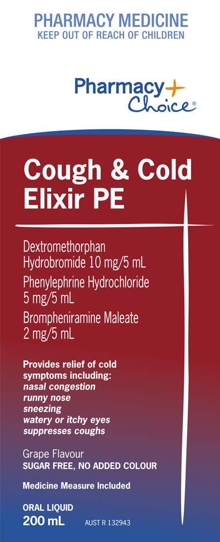 Pharmacy Choice -  Cough Cold Elixir PE 200mL