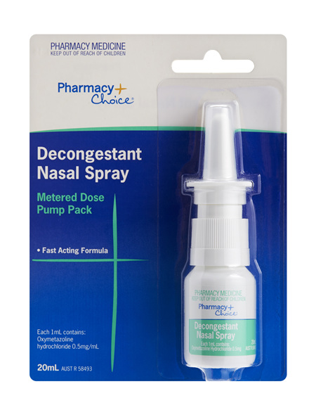 Pharmacy Choice -  Decongestant Nasal Spray Pump 20mL