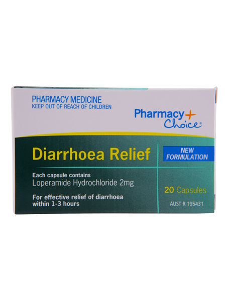 Pharmacy Choice -  Diarrhoea Relief 20 Capsules