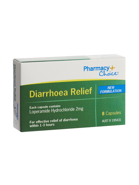 Pharmacy Choice -  Diarrhoea Relief 8 Capsules