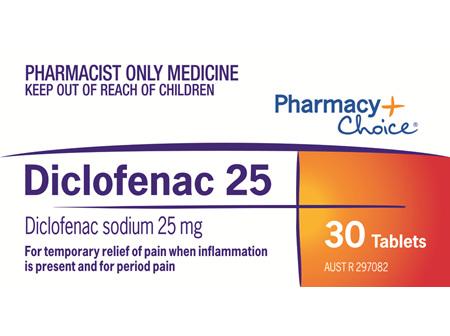 Pharmacy Choice -  Diclofenac 25 Tablets 30's