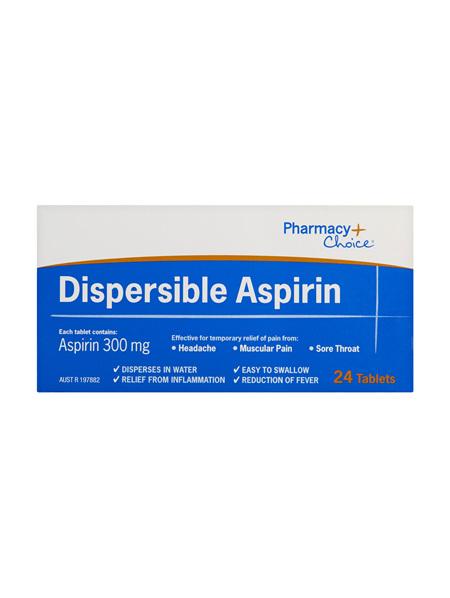 Pharmacy Choice -  Dispersible Aspirin 300mg 24 Tablets