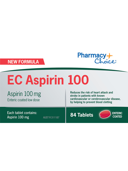 Pharmacy Choice -  EC Aspirin 100mg  84 Tablets