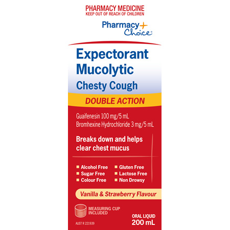 Pharmacy Choice -  Expectorant Mucolytic Chesty Cough 200mL