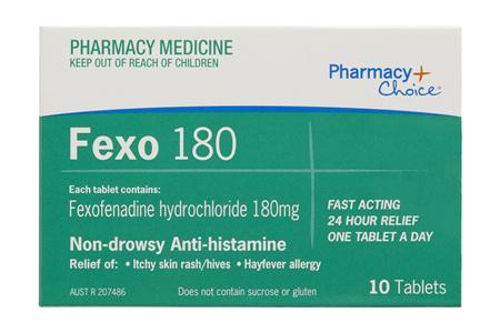 Pharmacy Choice -  Fexofenadine 180mg 10 Tablets