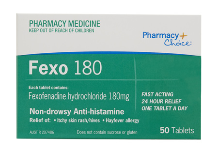 Pharmacy Choice -  Fexofenadine 180mg 50 Tablets