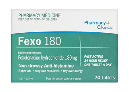 Pharmacy Choice -  Fexofenadine 180mg 70 Tablets