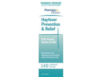 Pharmacy Choice -  Hayfever Relief & Prevention 140 Dose Spray