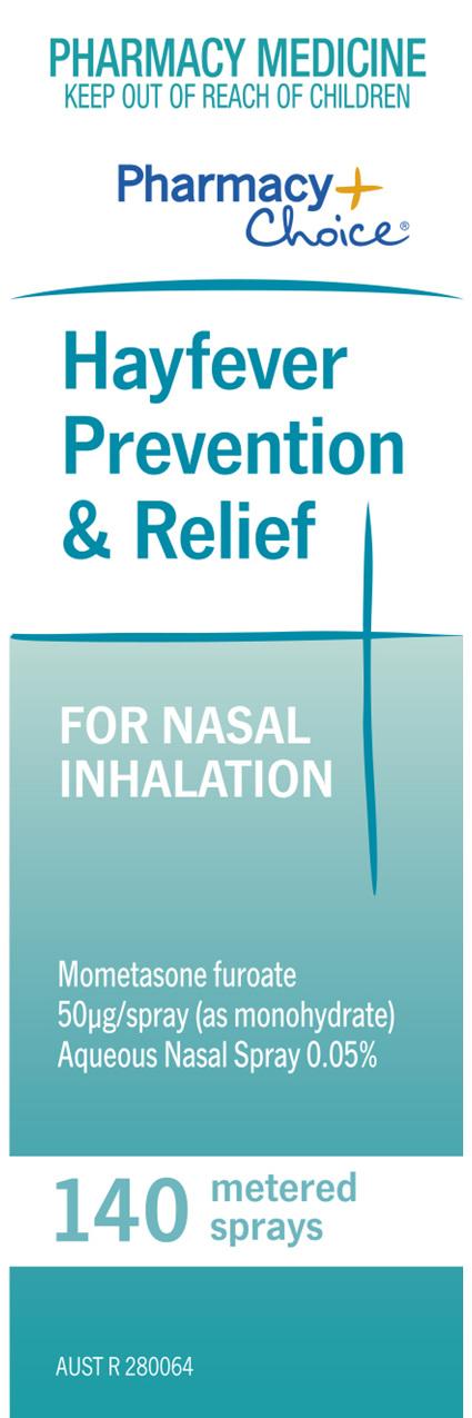 Pharmacy Choice -  Hayfever Relief & Prevention 140 Dose Spray