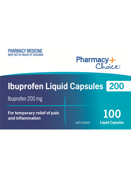 Pharmacy Choice -  Ibuprofen 200mg 100 Liquid Capsules