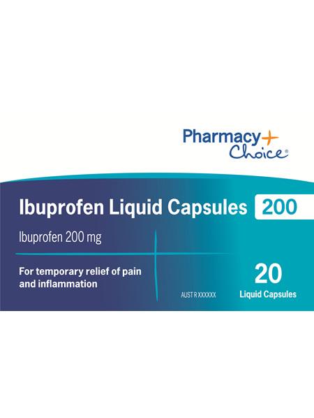 Pharmacy Choice -  Ibuprofen 200mg 20 Liquid Capsules