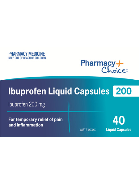 Pharmacy Choice -  Ibuprofen 200mg 40 Liquid Capsules