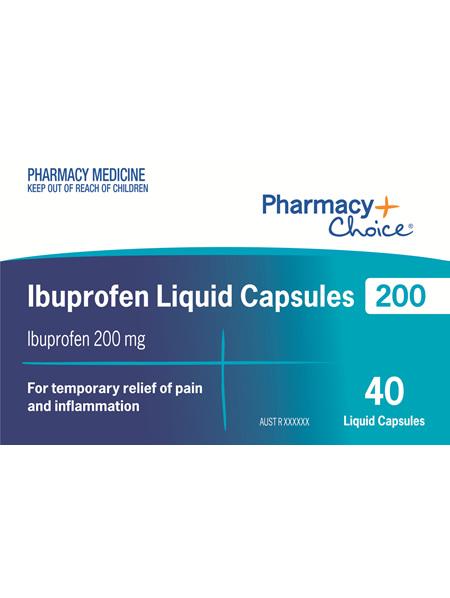 Pharmacy Choice -  Ibuprofen 200mg 40 Liquid Capsules