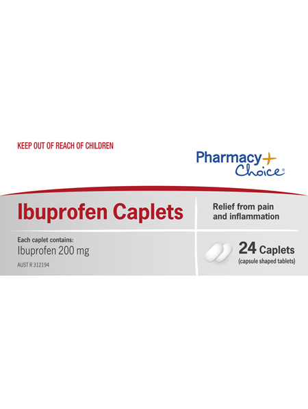 Pharmacy Choice -  Ibuprofen Caplets 24's