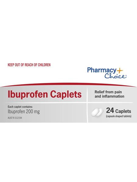 Pharmacy Choice -  Ibuprofen Caplets 24's