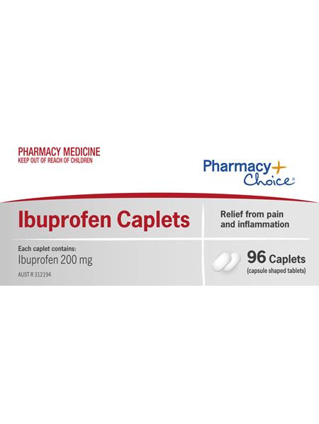 Pharmacy Choice -  Ibuprofen Caplets 96's