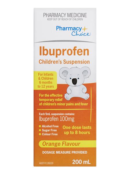Pharmacy Choice -  Ibuprofen Children's Suspension (6 months to 12 years) 200mL