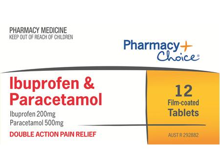 Pharmacy Choice -  Ibuprofen + Paracetamol 12 Tablets