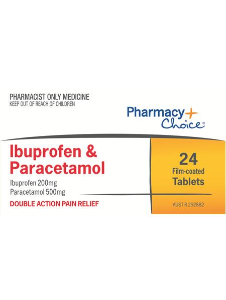 Pharmacy Choice -  Ibuprofen + Paracetamol 24 Tablets