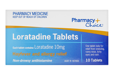 Pharmacy Choice -  Loratadine 10 Tablets