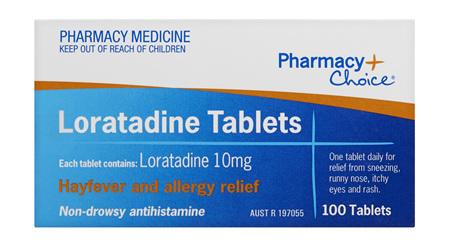 Pharmacy Choice -  Loratadine 100 Tablets
