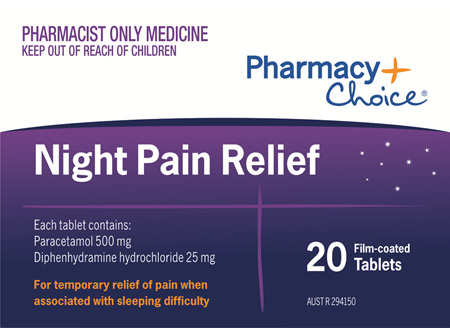 Pharmacy Choice -  Night Pain Relief 20 Tablets