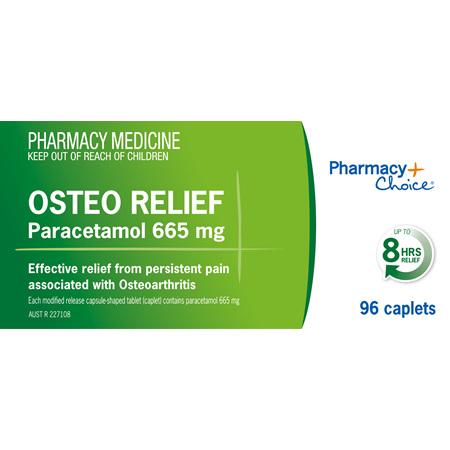 Pharmacy Choice -  Osteo Relief Paracetamol 665mg 96 Caplets