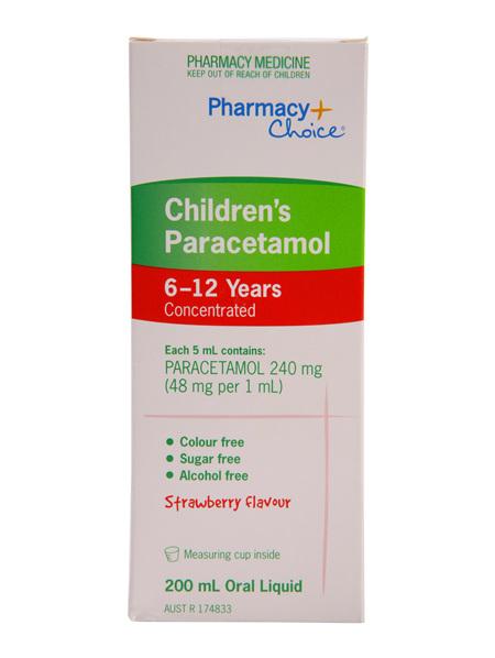Pharmacy Choice -  Paracetamol Children's Suspension (6 - 12 years) 200mL