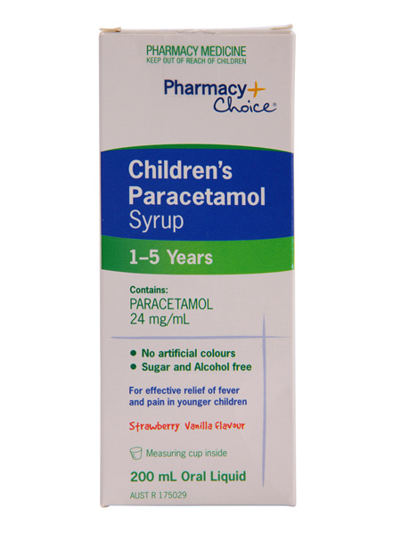 Pharmacy Choice -  Paracetamol  Children's Syrup (1 - 5 years) 200mL