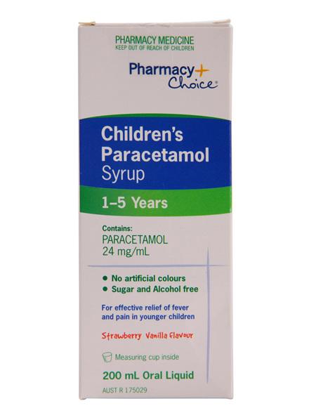 Pharmacy Choice -  Paracetamol  Children's Syrup (1 - 5 years) 200mL
