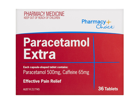 Pharmacy Choice -  Paracetamol Extra 36 Tablets