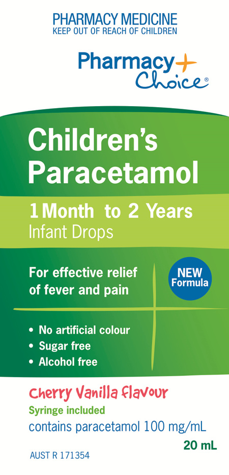 Pharmacy Choice -  Paracetamol Infant Drops (1 month - 2 years) 20mL
