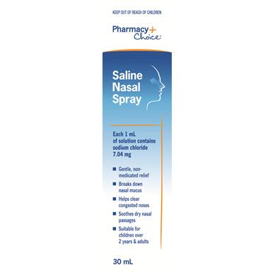 Pharmacy Choice -  Saline Nasal Spray 30mL