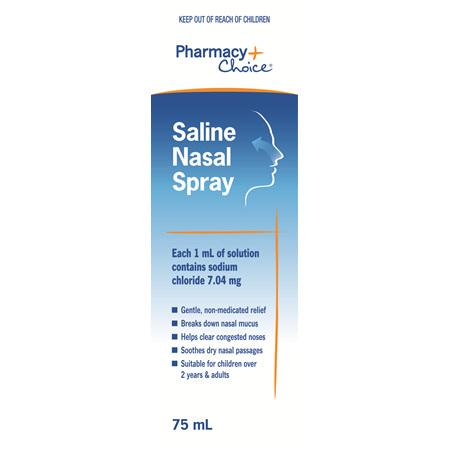 Pharmacy Choice -  Saline Nasal Spray 75mL