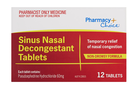 Pharmacy Choice -  Sinus Nasal Decongestant 12 Tablets