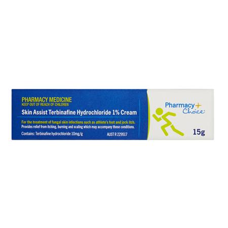 Pharmacy Choice -  Skin Assist Terbinafine Hydrochloride 1% Cream 15g