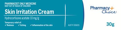 Pharmacy Choice -  Skin Irritation Cream 1% 30g