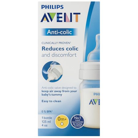 Philips Avent Anti-Colic Bottle 0m+ 125mL