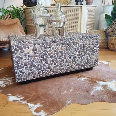 Piedras Coffee Table - White Wash Grain